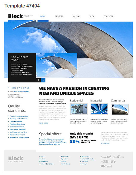 WordPress Theme 47404