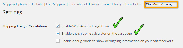 Enabling the Shipping Method