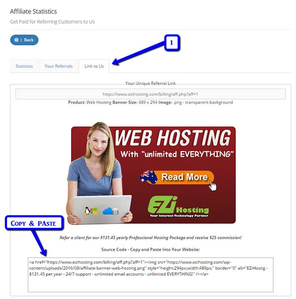 Link to us web hosting
