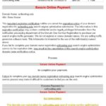 Fraudulent Email Renewals