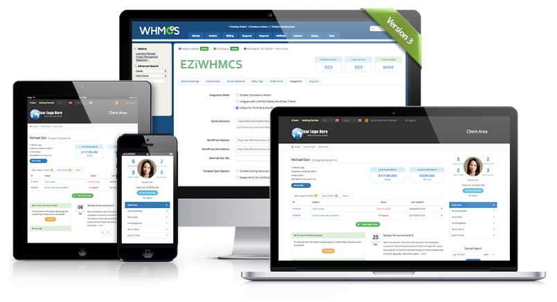 WHMCS Template Theme for WordPress